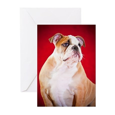 English Bulldog Puppy Greeting Cards (Pk of 20)
