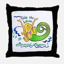 Mermaid Lagoon Throw Pillow