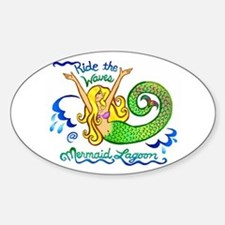 Mermaid Lagoon Sticker (Oval)