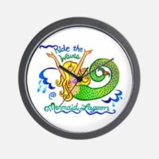 Mermaid Lagoon Wall Clock