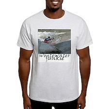 Kayaking whitewater junkie Ash Grey T-Shirt