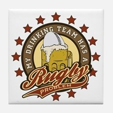 Rugby Drinking Team Tile Coaster