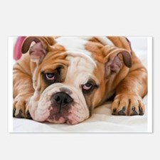 English Bulldog Puppy Postcards (Package of 8)