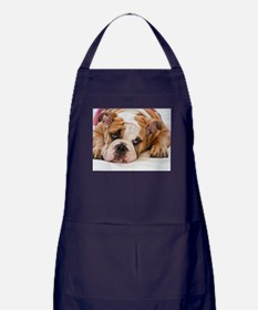 English Bulldog Puppy Apron (dark)