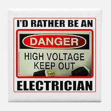 ELECTRICIAN Tile Coaster