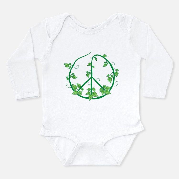 Green Peace Long Sleeve Infant Bodysuit