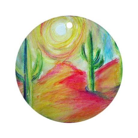 Desert, Bright, Ornament (Round)
