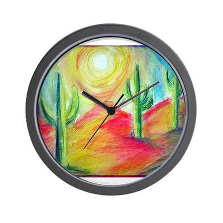 Desert, Bright, Wall Clock