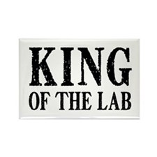 King of the Lab Rectangle Magnet