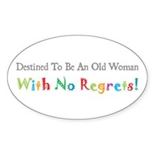 No Regrets Oval Decal