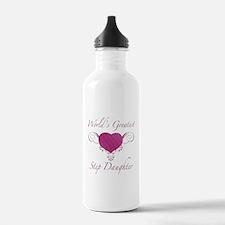 World's Greatest Step Daughter (Heart) Water Bottle