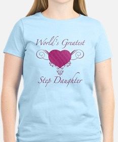 World's Greatest Step Daughter (Heart) T-Shirt
