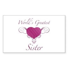 World's Greatest Sister (Heart) Decal