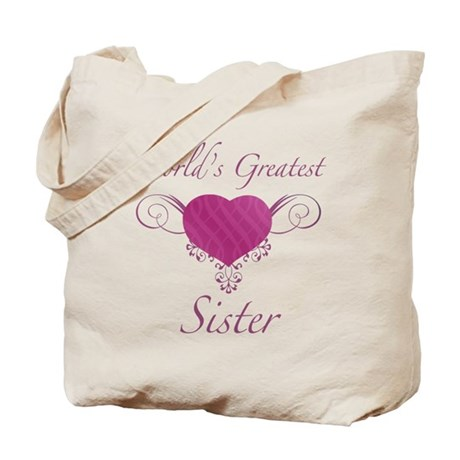 World's Greatest Sister (Heart) Tote Bag