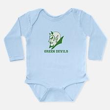 Unique Pcc green devils Long Sleeve Infant Bodysuit