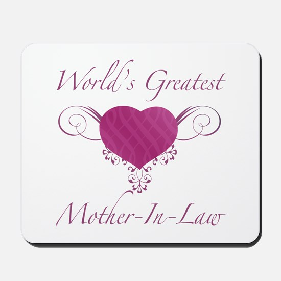World's Greatest Mother-In-Law (Heart) Mousepad