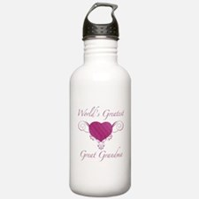 World's Greatest Great Grandma (Heart) Water Bottle