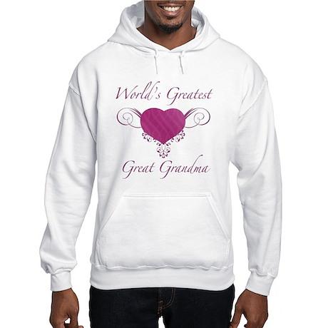 World's Greatest Great Grandma (Heart) Hooded Swea
