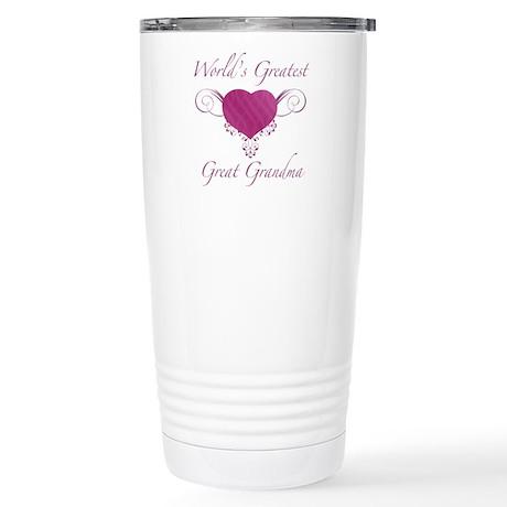 World's Greatest Great Grandma (Heart) Stainless S