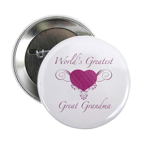 "World's Greatest Great Grandma (Heart) 2.25"" Butto"