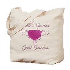 World's Greatest Great Grandma (Heart) Tote Bag