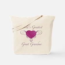 World's Greatest Great Grandma (Heart) Tote Bag