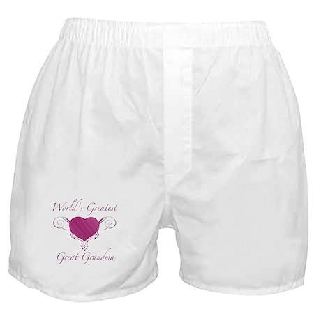 World's Greatest Great Grandma (Heart) Boxer Short