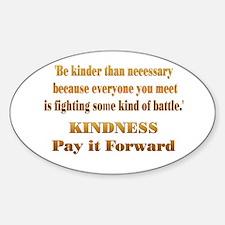 Kindness Sticker (Oval)