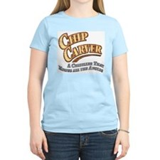 """Chip Carver""  Women's Pastel T-Shirt"
