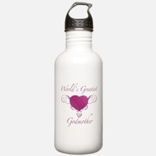 World's Greatest Godmother (Heart) Water Bottle