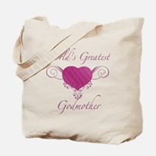 World's Greatest Godmother (Heart) Tote Bag