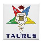 OES Taurus Tile Coaster
