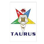 OES Taurus Postcards (Package of 8)