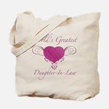World's Greatest Daughter-In-Law (Heart) Tote Bag