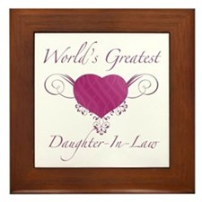 World's Greatest Daughter-In-Law (Heart) Framed Ti