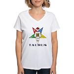 OES Taurus Sign Women's V-Neck T-Shirt