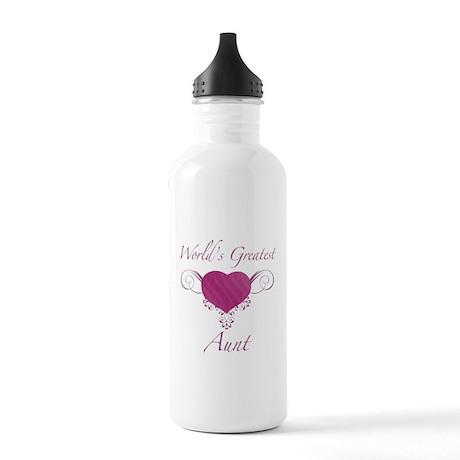 World's Greatest Aunt (Heart) Stainless Water Bott