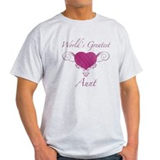 World's Greatest Aunt (Heart) T-Shirt