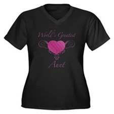 World's Greatest Aunt (Heart) Women's Plus Size V-