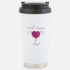 World's Greatest Aunt (Heart) Travel Mug