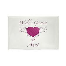 World's Greatest Aunt (Heart) Rectangle Magnet