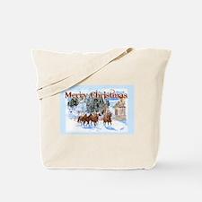 Riding Home for Christmas Tote Bag