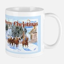 Riding Home for Christmas Mug