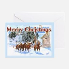 Riding Home for Christmas Greeting Cards (Pk of 20