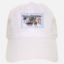 Riding Home for Christmas Baseball Baseball Cap
