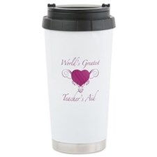 World's Greatest Teacher's Aid (Heart) Travel Mug