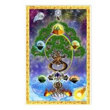 """Yggdrasil, The World Tree"" Postcards (8)"