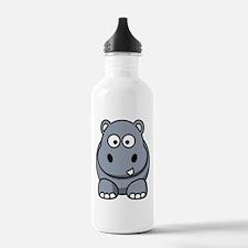 Cute Hippo Water Bottle