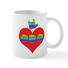 I Love Mom with Big Heart Mug