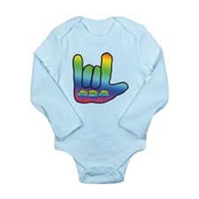 I Love Mom Big Hand Long Sleeve Infant Bodysuit
